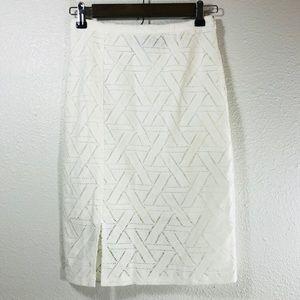 MinkPink Pencil Skirt White